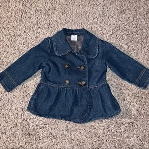 Adorable Girls' Denim Blazer